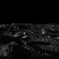 3d environment moon surface