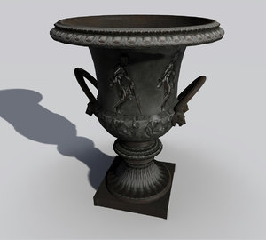 3d roman garden vase model