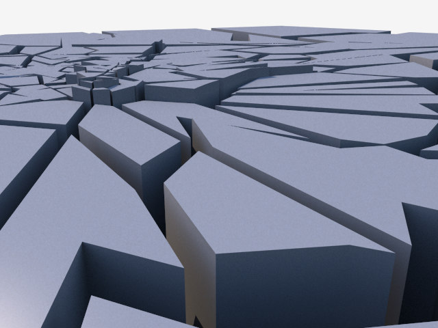 3ds max cracks crevice fission