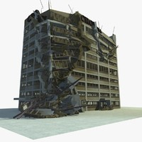 demolished building 2 3d model