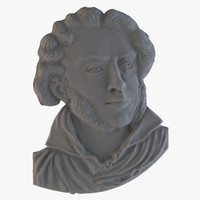 bas alexander pushkin 3d model