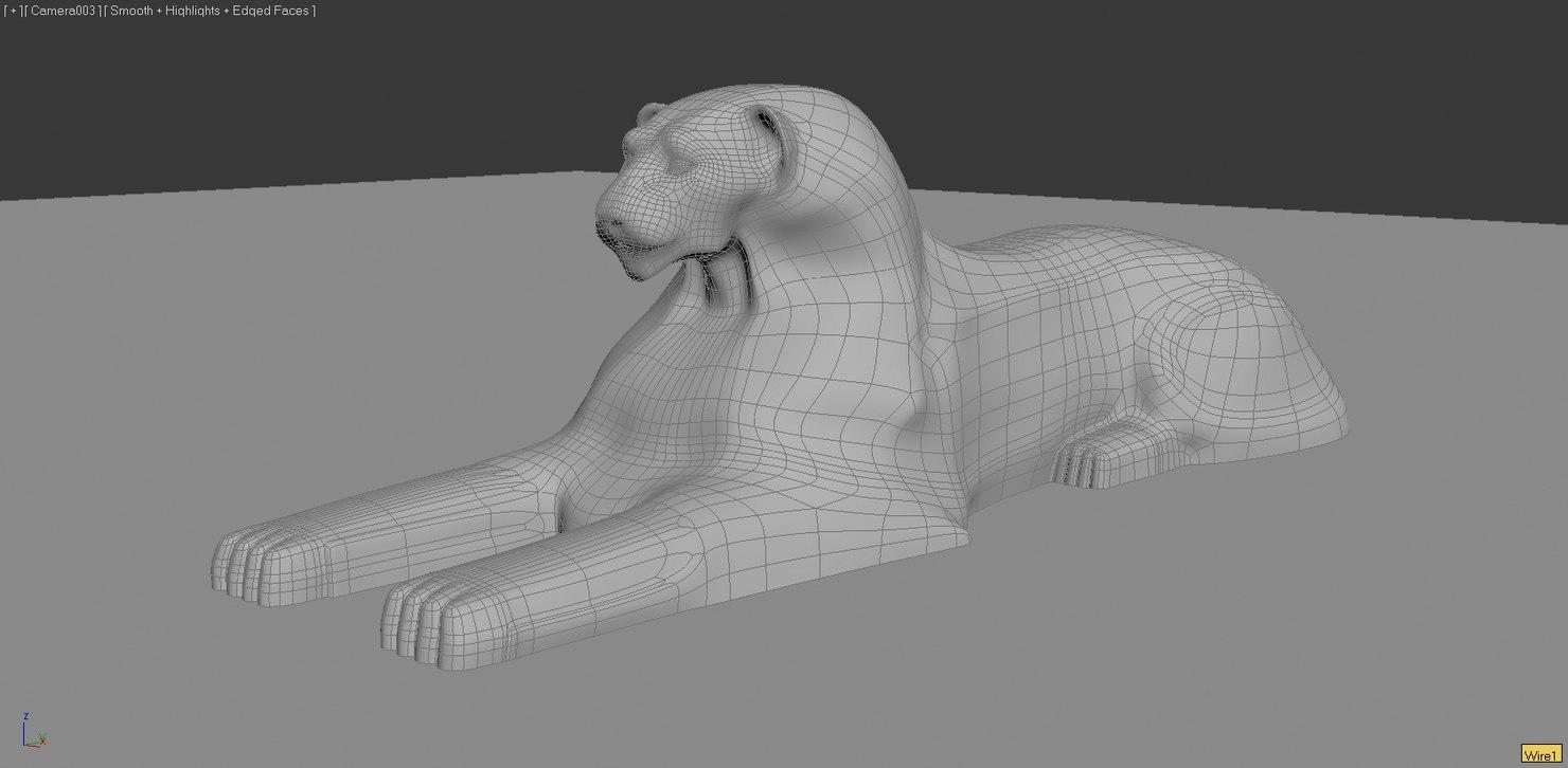 3dsmax lion sphinx