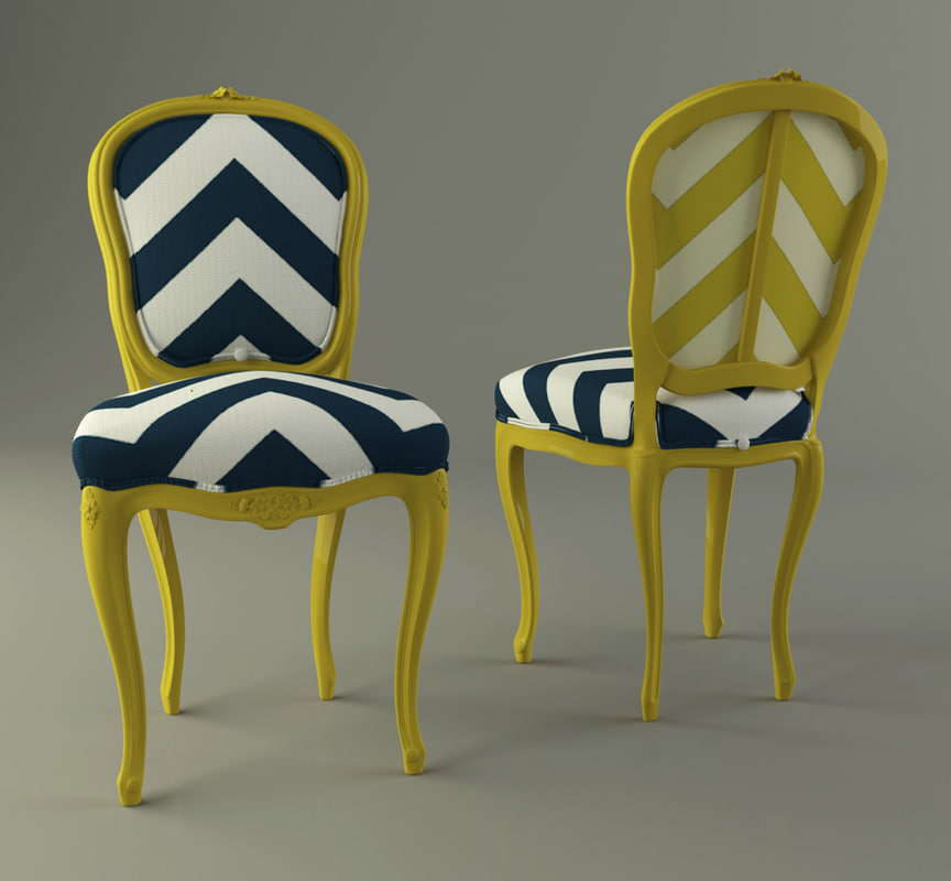 3d model french provincial chair