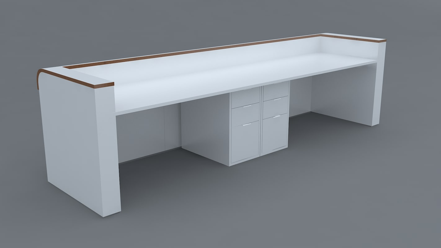 3d hyundai reception desk 3