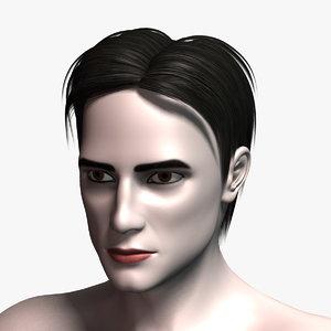 3ds max james hair human character