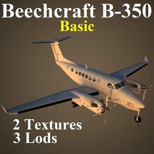 beech 350 basic 3d max
