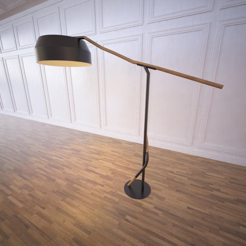 3d outline deporte driftwood lamp