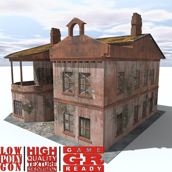 3dsmax weathered house games