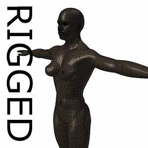 rigged base mesh muscular 3d model