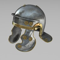 3d model of roman helmet