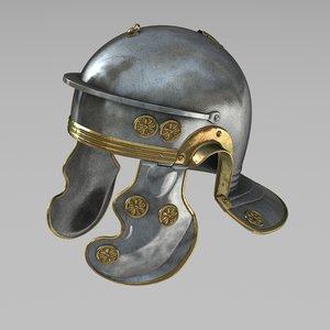 3d model of roman helmet