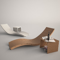 swing lounger unopiu lounge 3d max