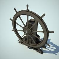 ship wheel 3d max