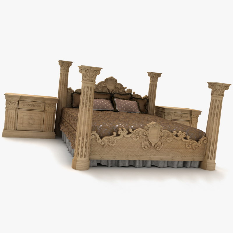 royal bed dwg