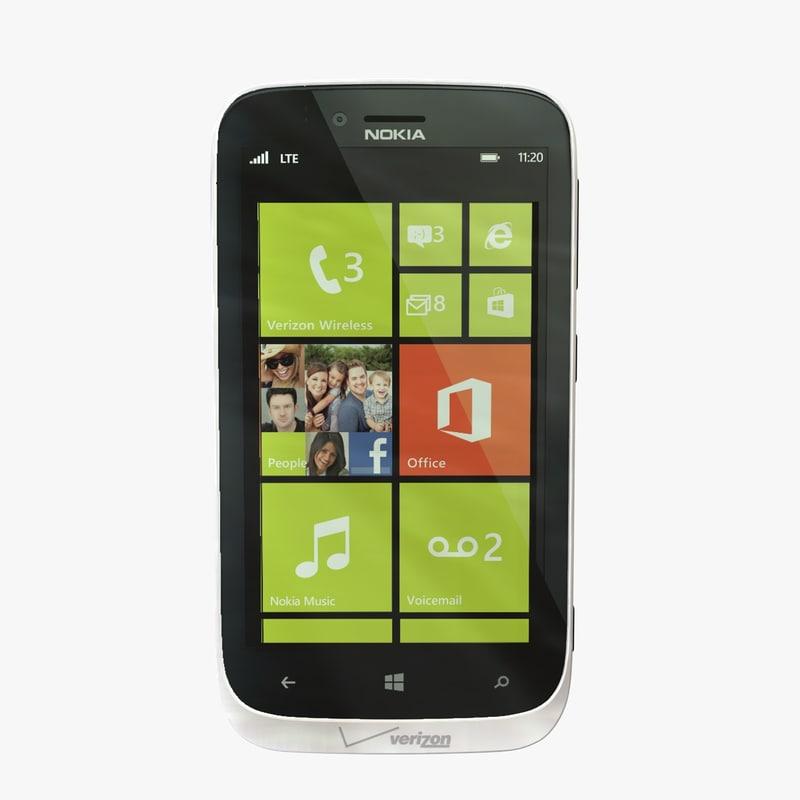 nokia lumia 822 white 3d 3ds