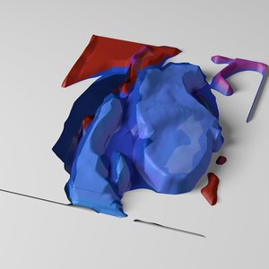 abstract displacement 3d model