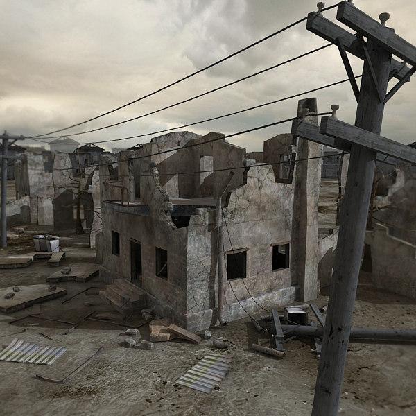 ruined scene 3ds