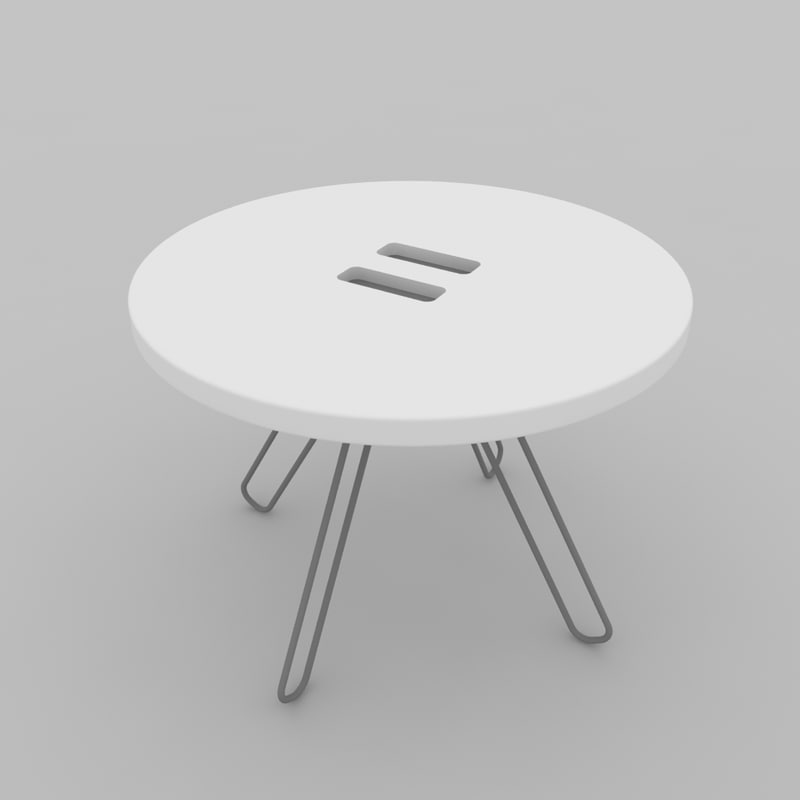 3d model button coffee table