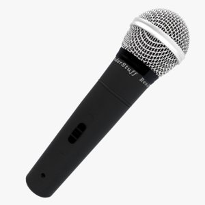 free basic microphone 3d model