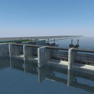 3d bridge dam