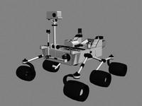 curiosity rover 3d model