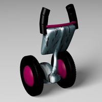 segway wheels drive 3d 3ds