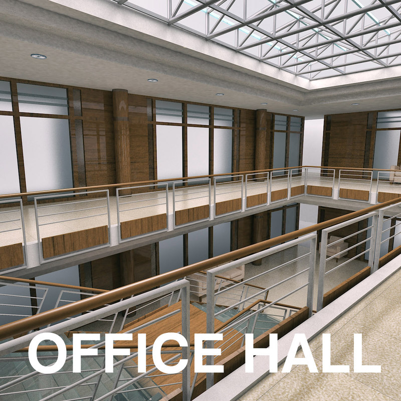 3d model reception office building