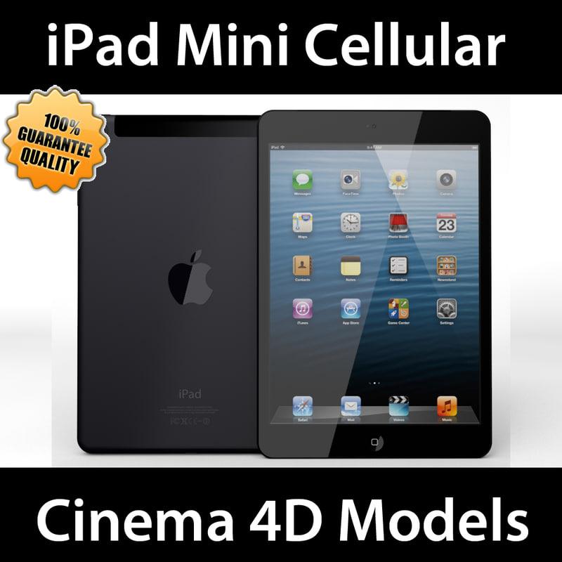apple ipad mini cellular c4d