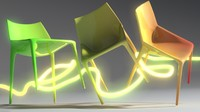 chair outline jump 3d max
