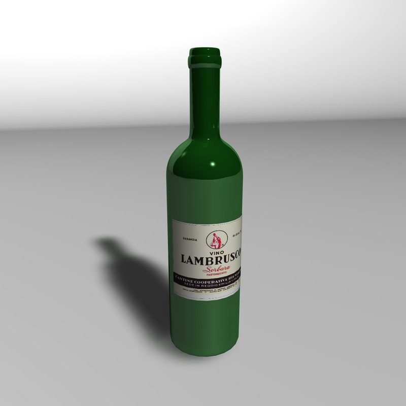 cinema4d wine bottle