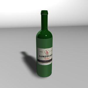 cinema4d wine bottle