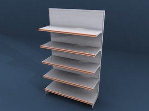 shelving shelf store 3d model