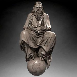god statue 3d max
