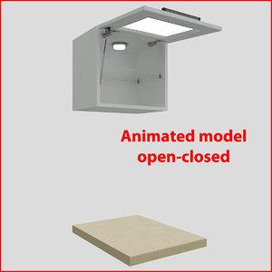 3d kitchen furnitures 45 cm
