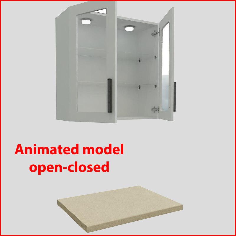 kitchen furnitures 80 cm 3d model
