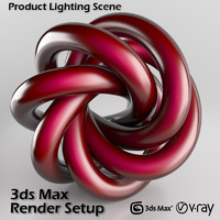 3d studio scene setup v-ray render model