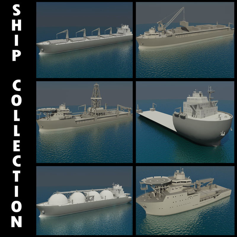 3d ship bulk carrier