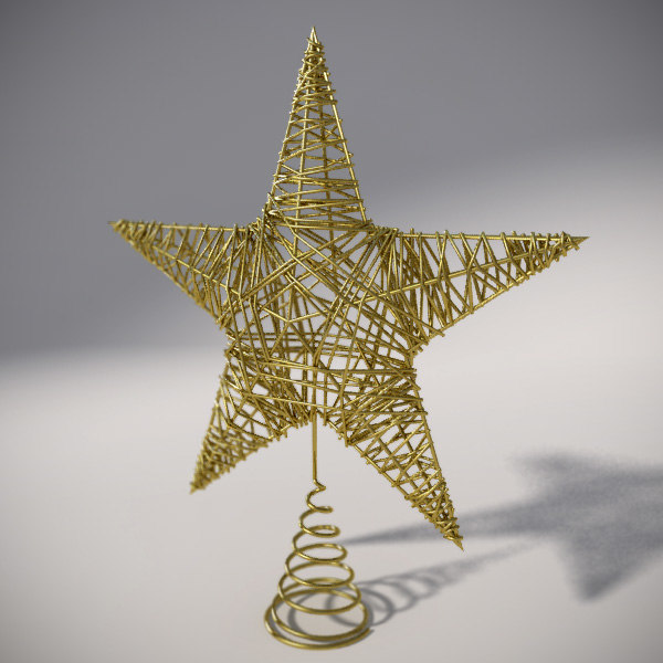 christmas tree star 3d 3ds