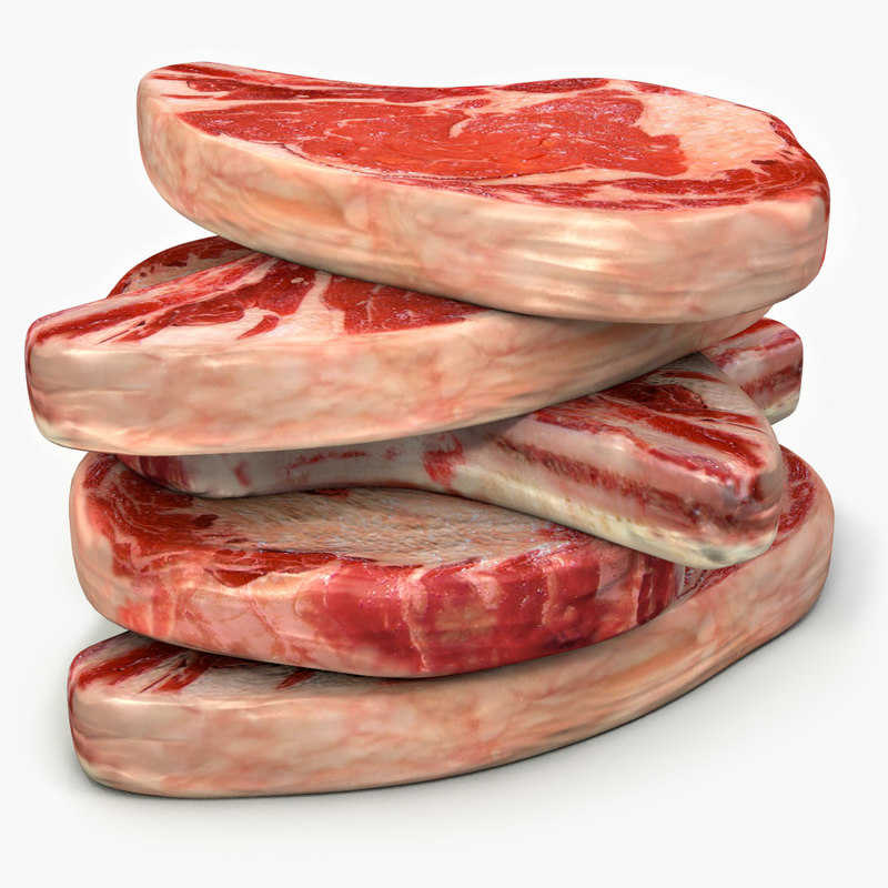 3d c4d beef rib roasts steaks