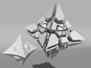 voronoi tesselation 3d model