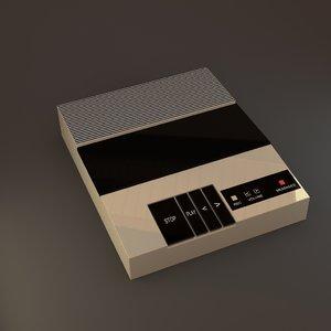 3d retro answering machine model