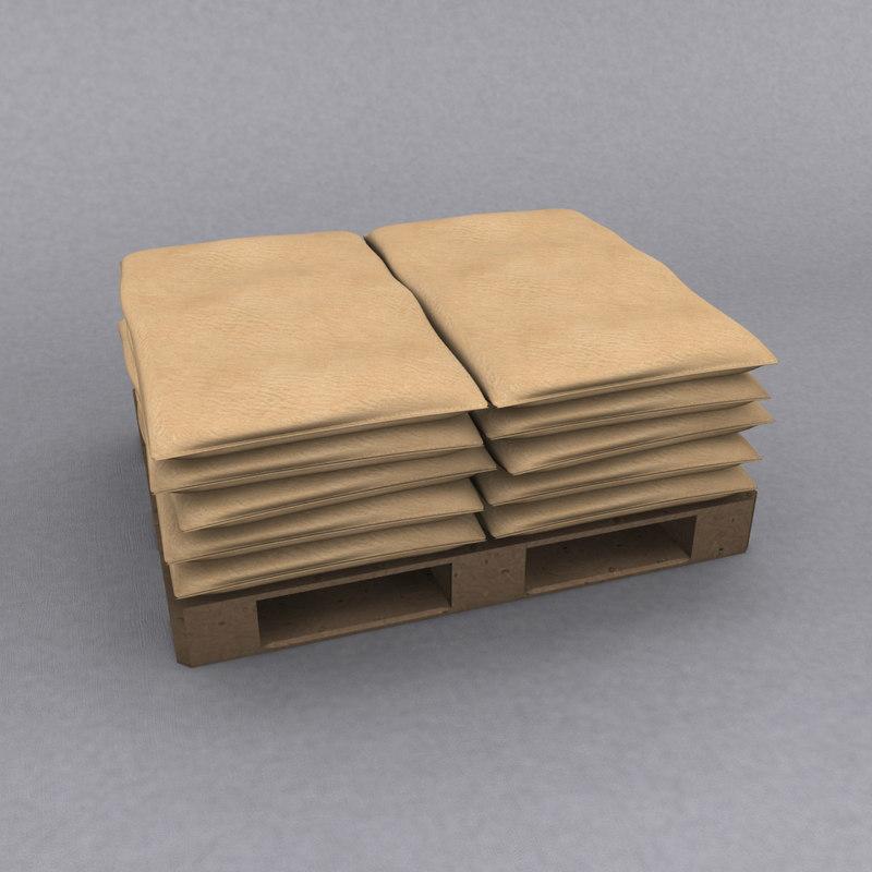 sack pallet 3d model