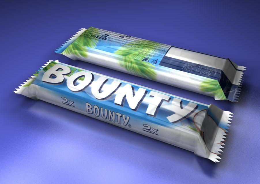 model bounty chocolate bar