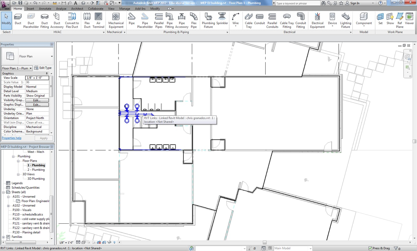 Building Rvt 3d Electrical Plan