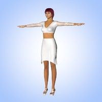 3ds max female character maggy