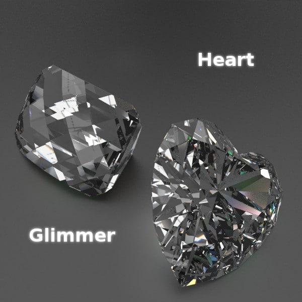 3d cutted gems