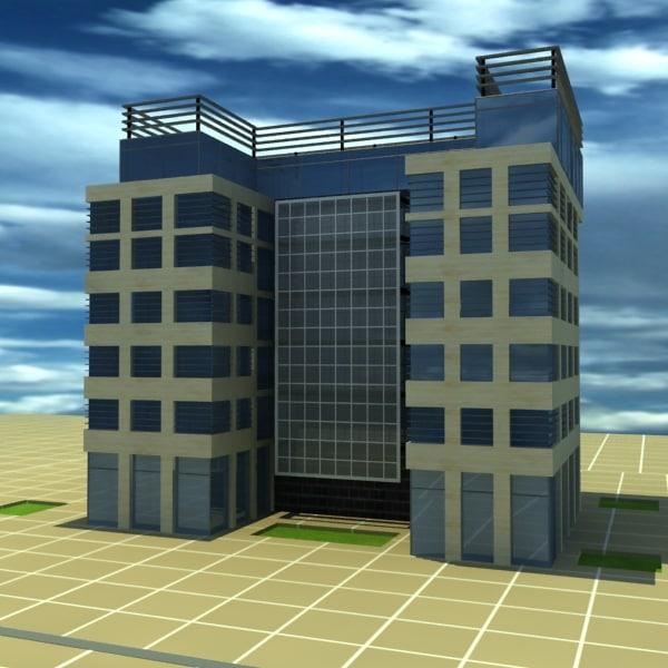 3d model design office building