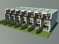 modern townhouse 3d 3ds