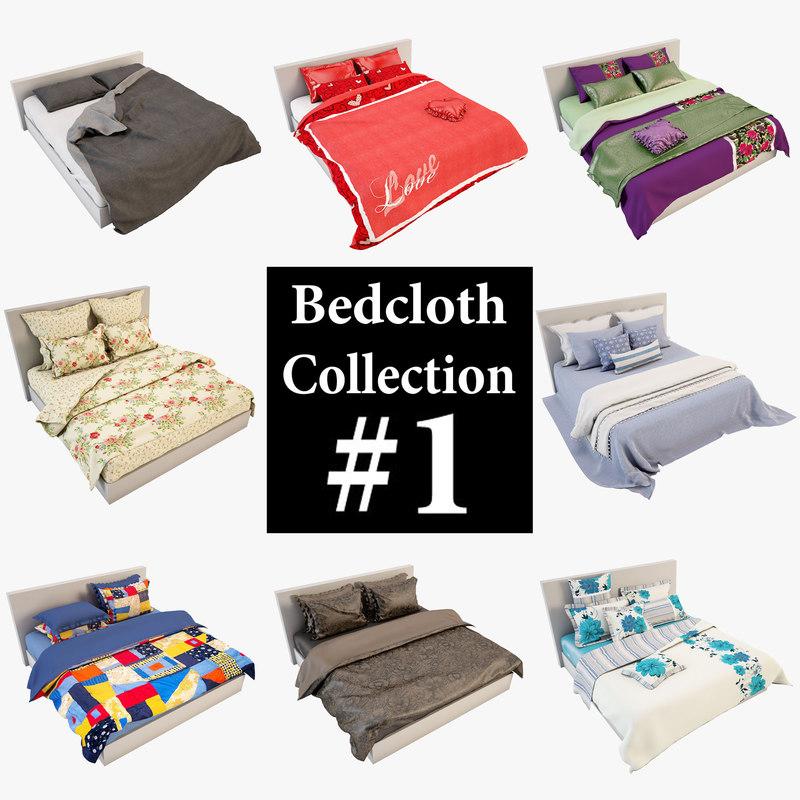 bedcloth 01 3d max