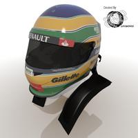 3d bruno senna 2012 helmet